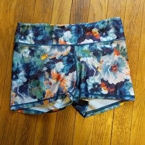 Floral workout shorts
